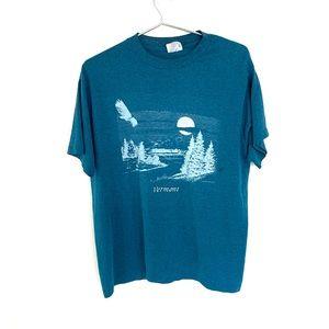🔥NWOT NOS 1990 Vintage Vermont Graphic T Shirt L